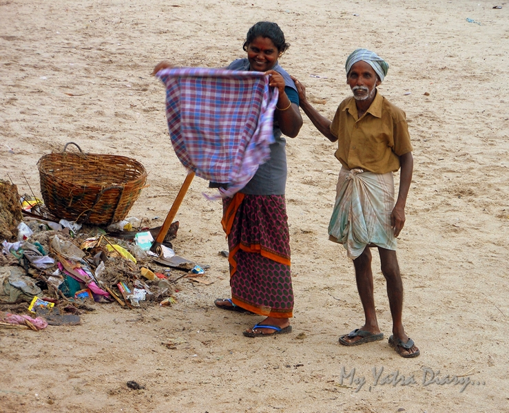 The Rameshwaram sea cleaners at Agni Teertham