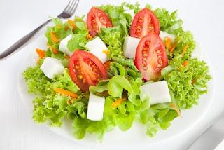 Ensalada con queso fresco