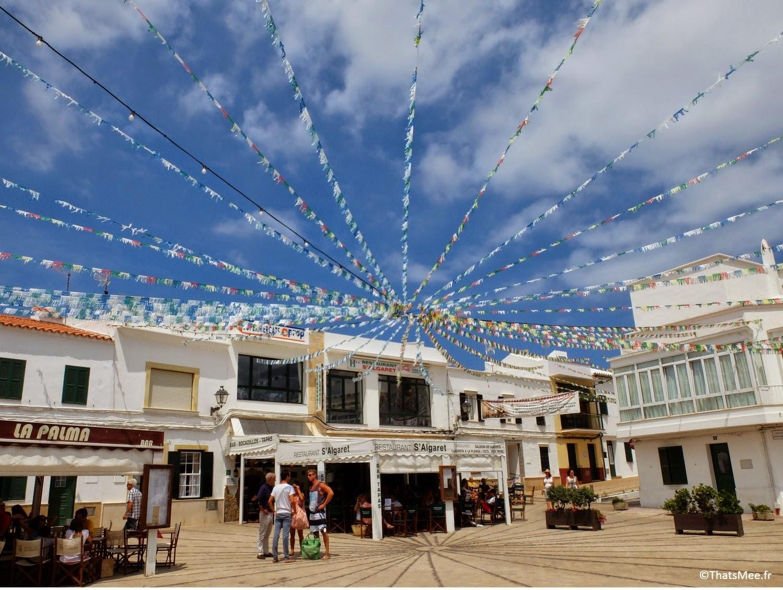 restaurant La Palma rue place de Fornells Minorque Menorca calderata plat typique local