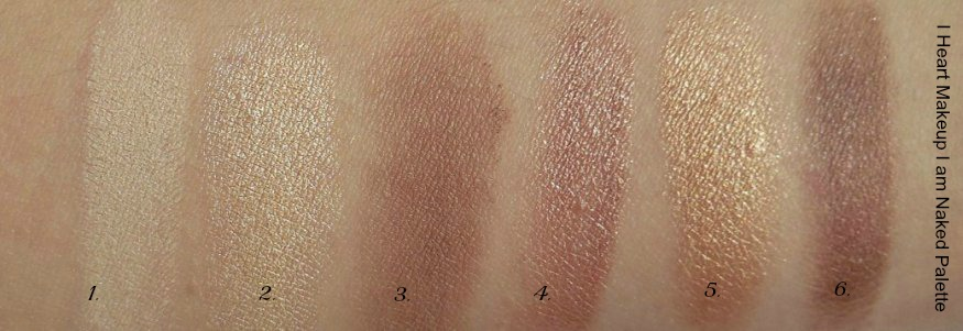 Neutral shadow swatches