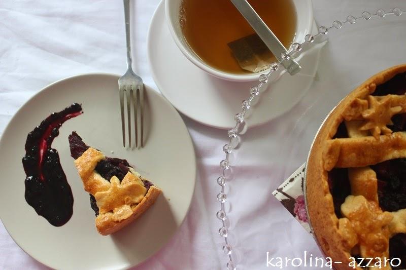 Čučoriedkovo jablkový koláč so zázvorom