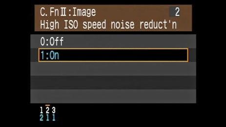 الحد من الضوضاء أثناء إستخدام الإيزو العالي