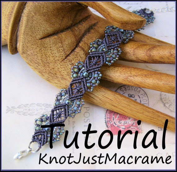 Micro macrame hydrangeas bracelet tutorial by Knot Just Macrame