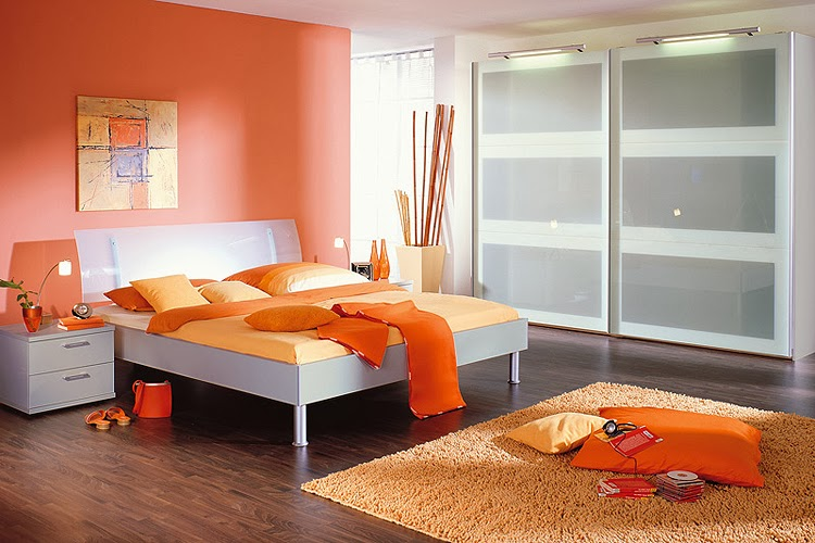 Dormitorios de color naranja colores en casa for Chambre ado orange et gris