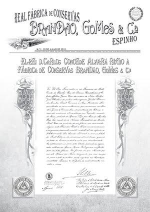 Jornal Real Fábrica de Conservas Brandão, Gomes & C.ª