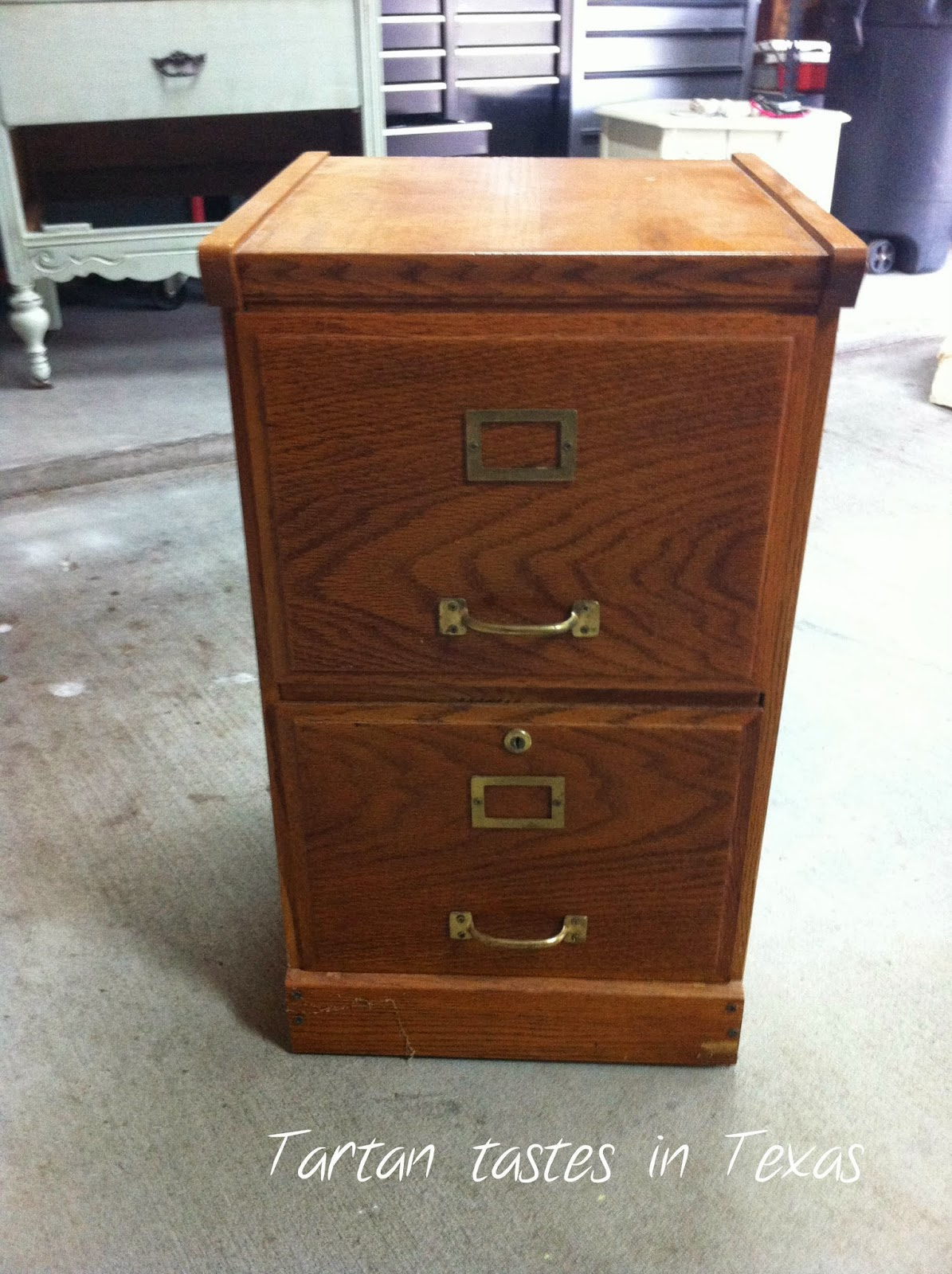 Tartan Tastes in Texas: Furniture Friday - File Cabinet Redo