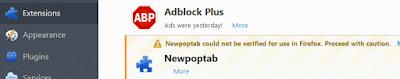 Newpoptab adware in Firefox