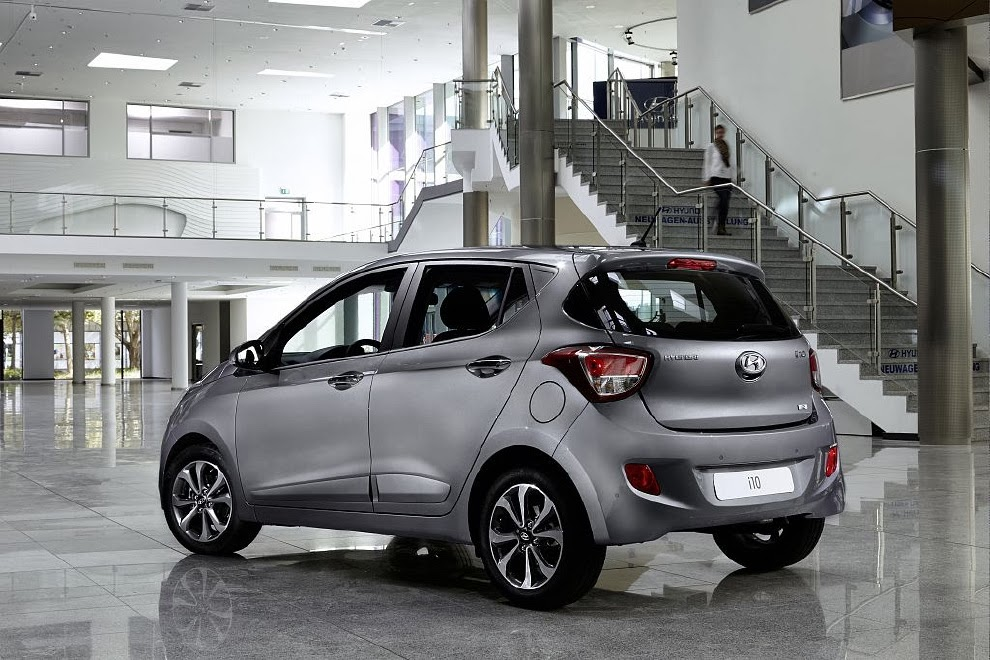 Hyundai i10 in showroom