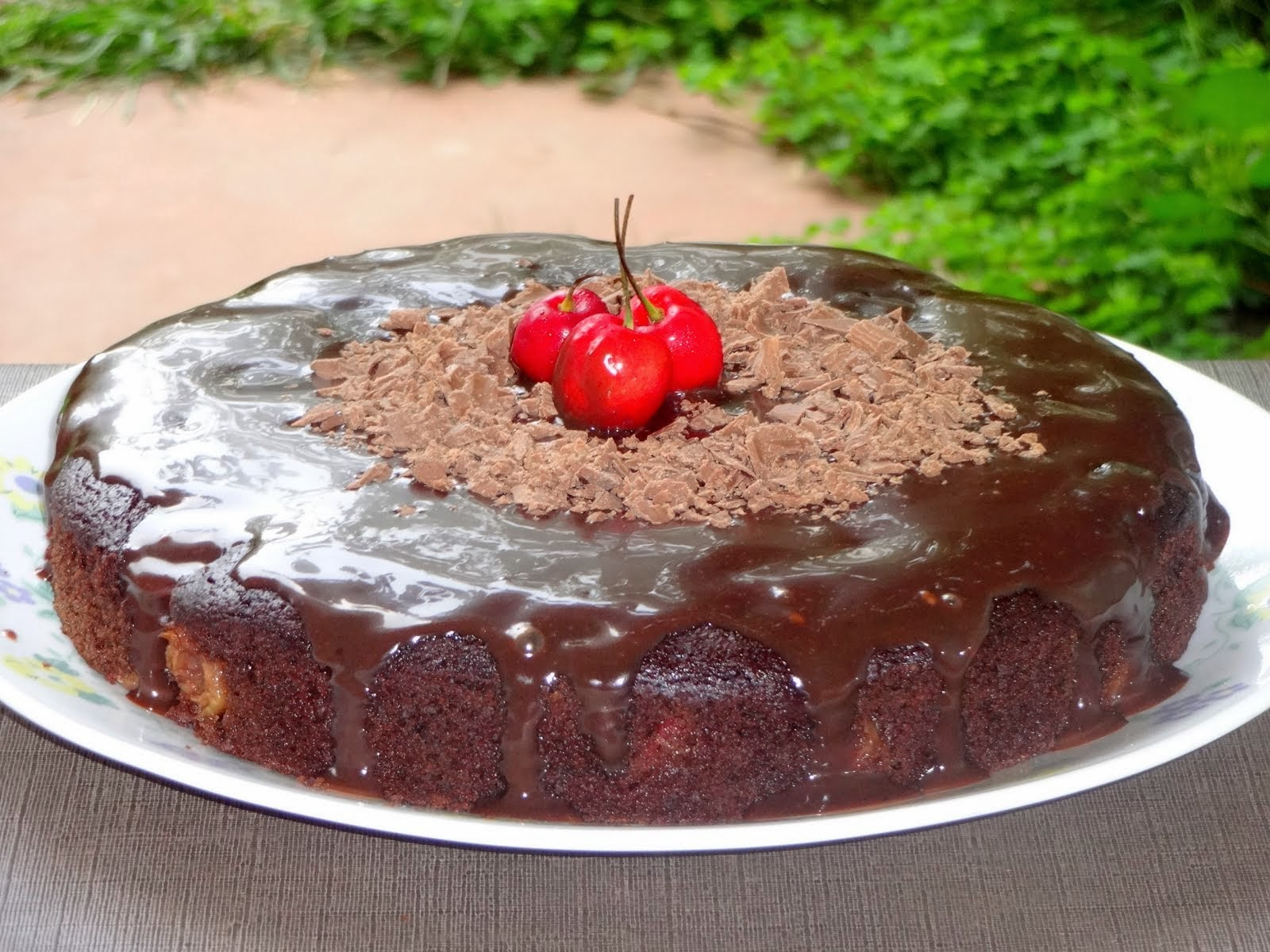 Chocolate Cherry Whole Grain Cake