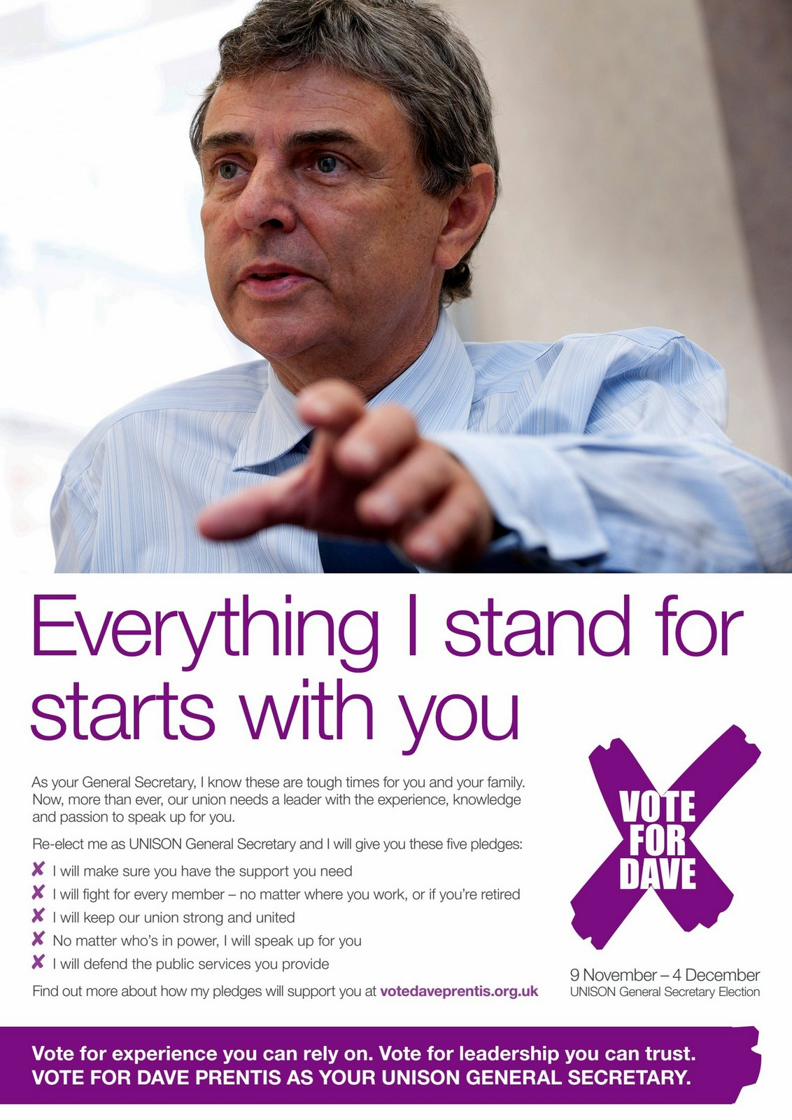 Vote Dave Prentis for UNISON General Secretary
