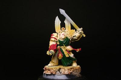Rojo en los exterminador de los Ángeles Oscuros de la caja de Warhammer: Venganza Oscura
