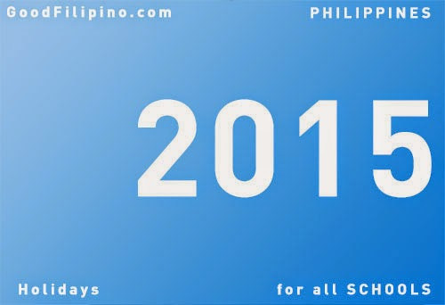 DepEd releases 2015 list of holidays for all schools