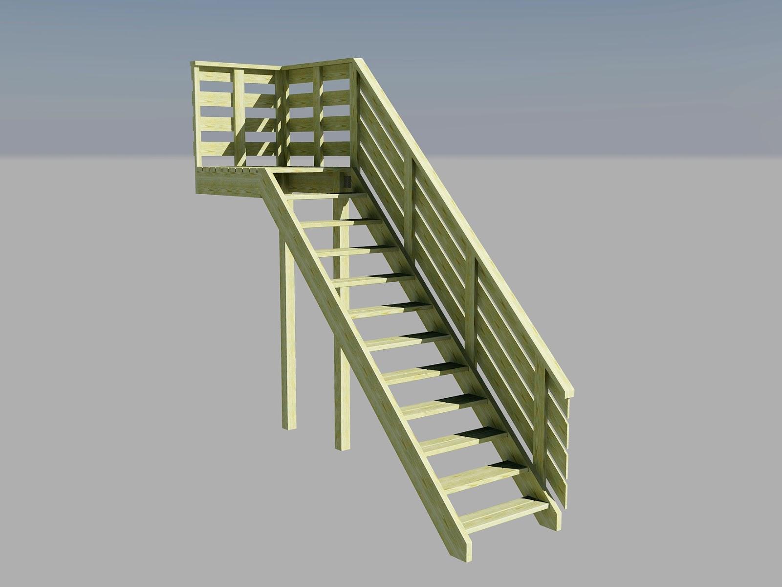 Lage rekkverk trapp