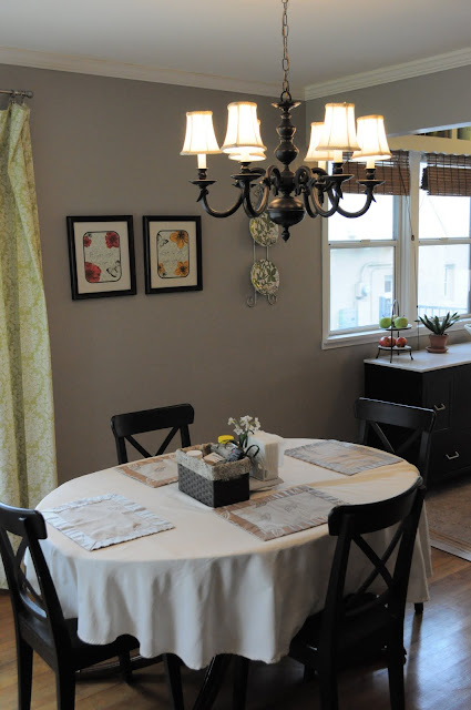 organized dining room