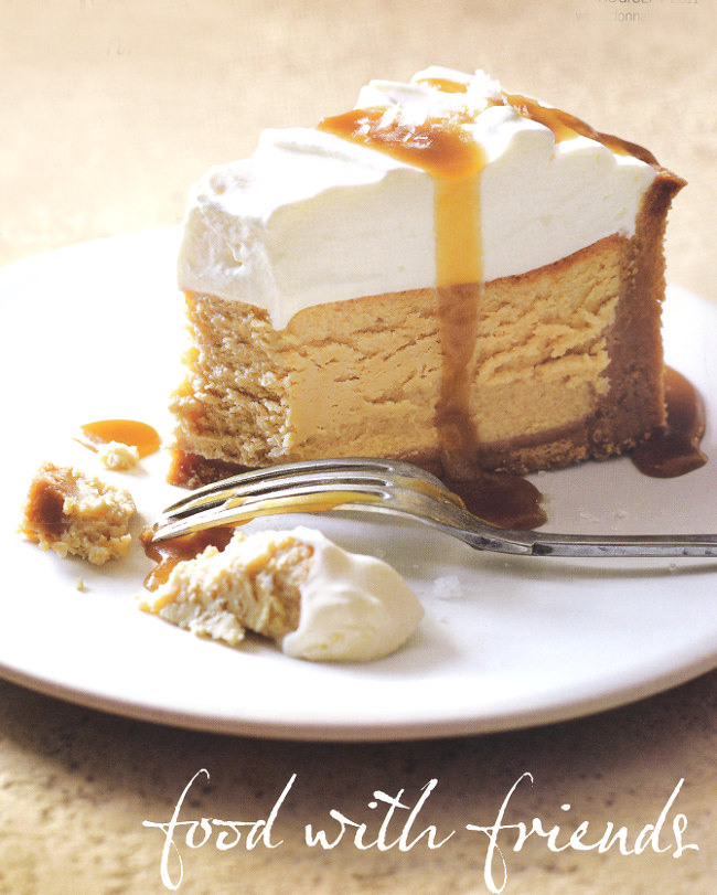 Salted caramel and vanilla baked cheesecake, by Donna Hay. Click Here ...