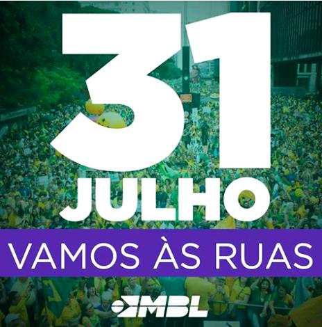 31 de julho: Vamos às ruas!