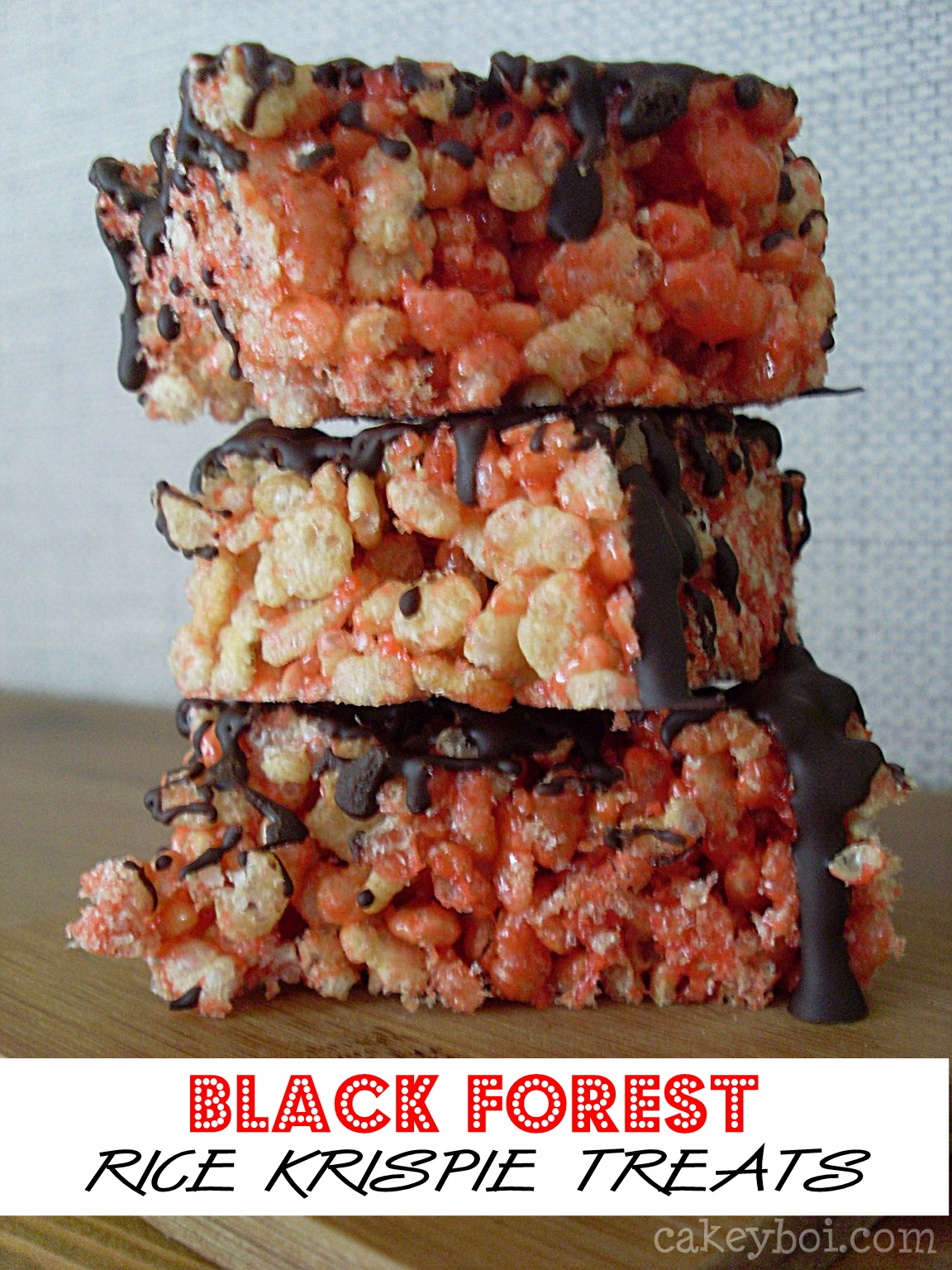 cherry and chocolate rice krispie treats