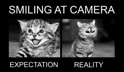 Smiling at Camera Expectation Reality