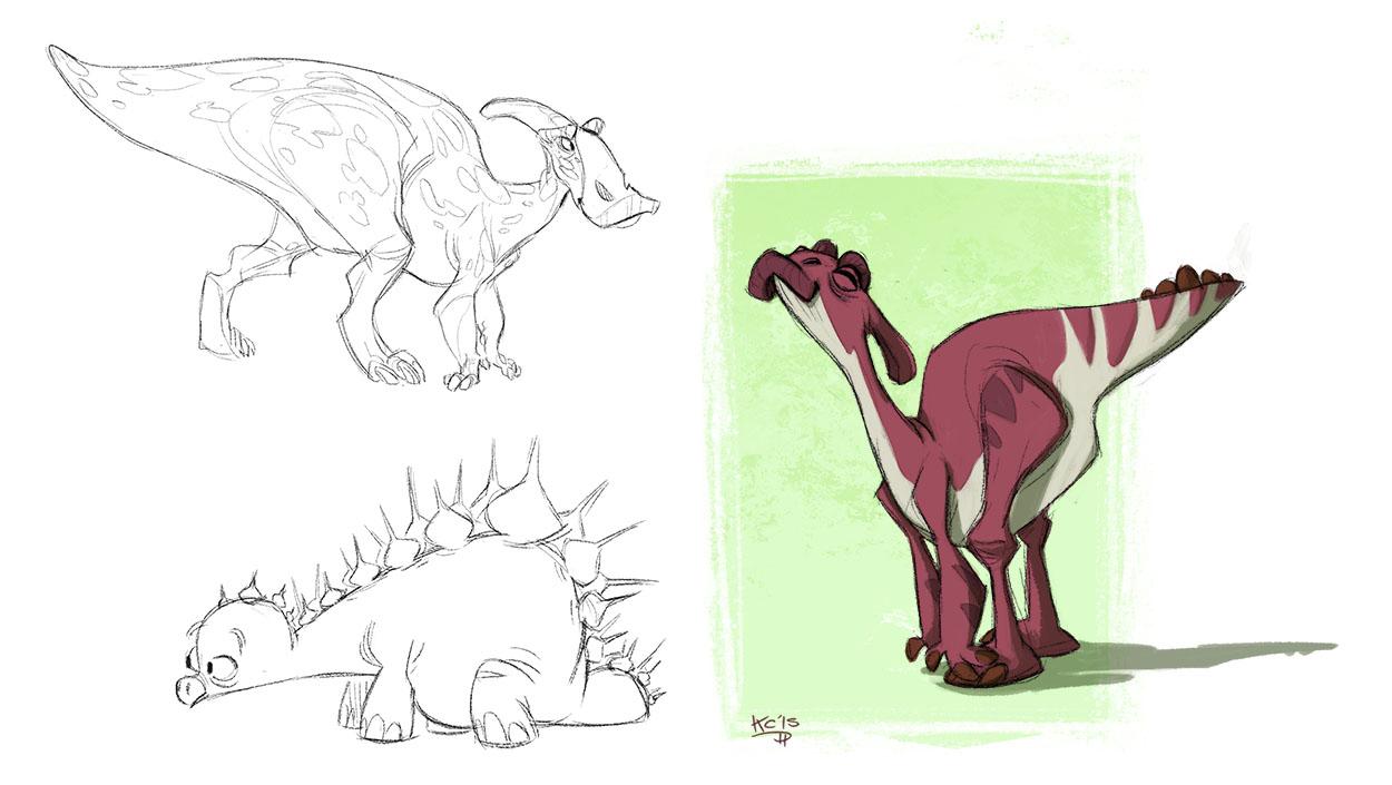 The Line Art Challenge : The polarkeet den dinosaurs