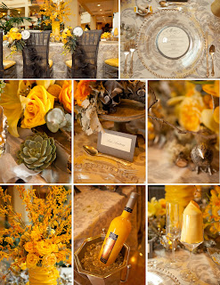 Wedding Colors: Pewter and Sunshine