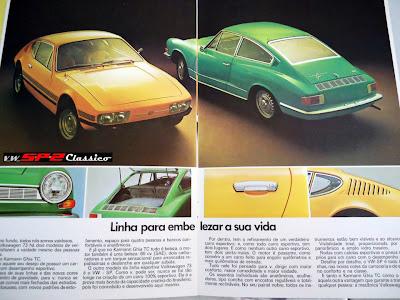 Prospecto vendas Volkswagen SP2 - 1973