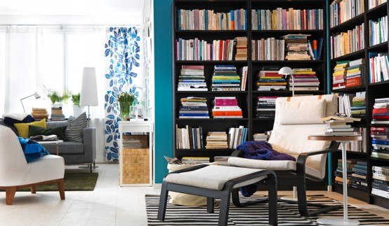 Living room interior design ideas home and office for Only books design apartment 8
