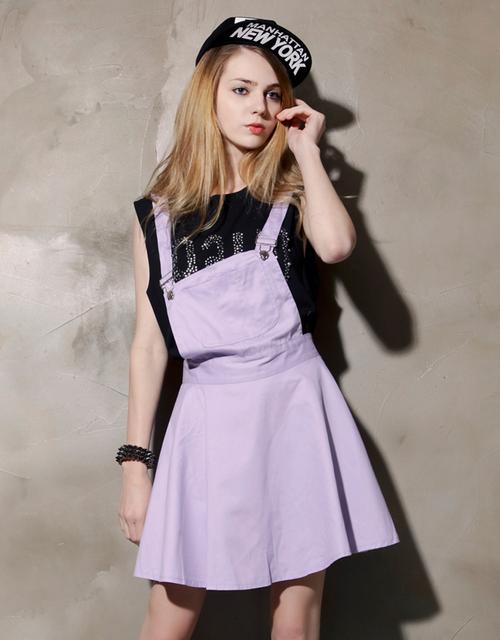 Pastel Overall Skirt