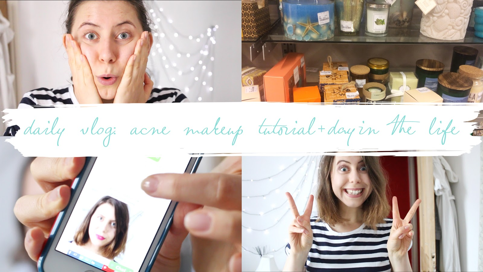 THE VIDEO: DAILY VLOG - ACNE COVERAGE + DAY IN THE LIFE