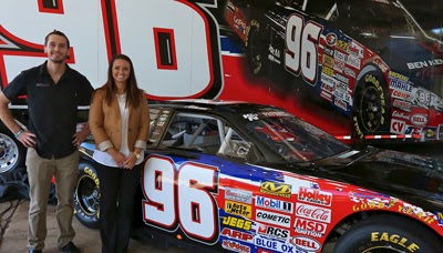 Ben Kennedy and Kenzie Ruston at Thursday's announcement that Ruston will pilot the No. 96 in the NASCAR K&N Pro Series East in 2014.
