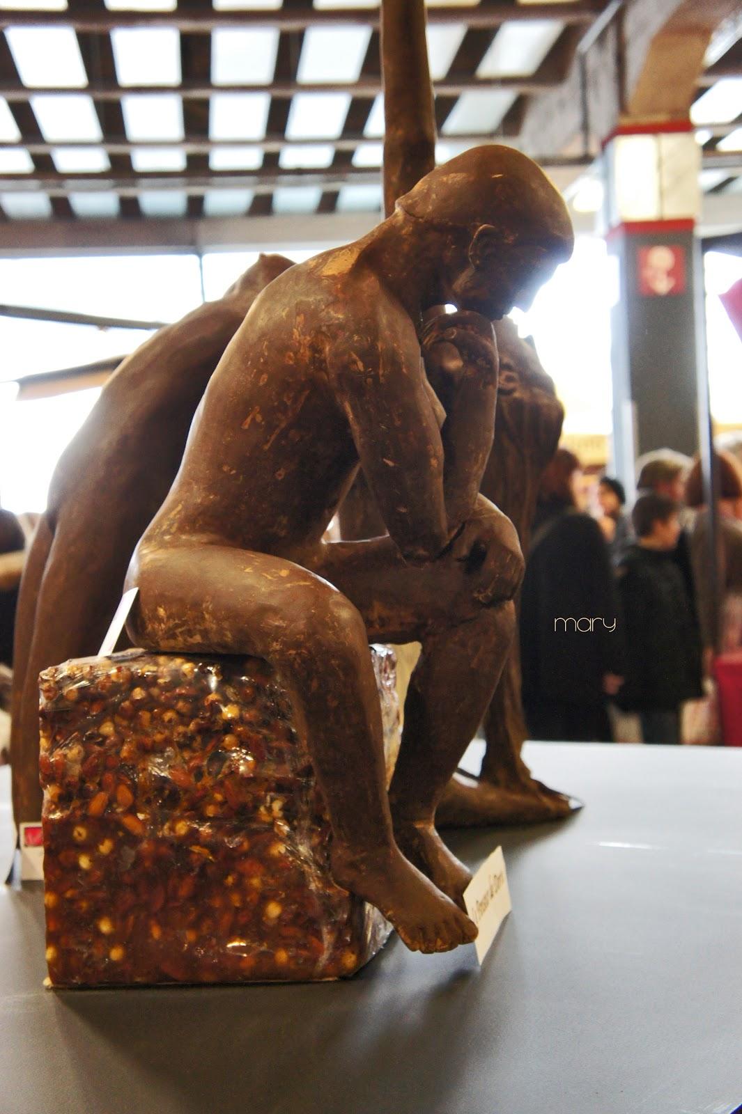 Le Penseur De Rodin Sculpture En Chocolat Buste