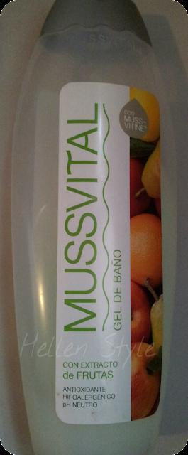 Gel de baño con extracto de frutas de Mussvital