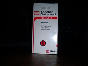 Dosis Obat ABBOTIC (Clarithromycin Klaritromisin)