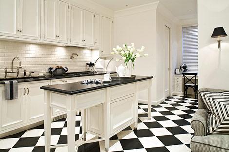 Archicasa e io che pensavo fosse solo un bel pavimento for Piastrelle cucina bianche e nere