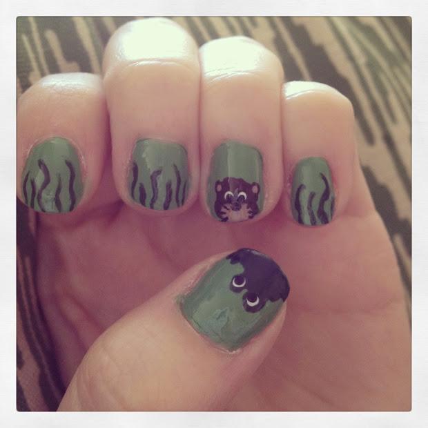 artful stew nail art swamp alligator otter