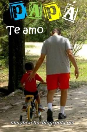 Postal Te Amo Papá. Quiero mucho a mi papá. Feliz día del padre, postales del corazón. Imágen con papá jugando con hijo. Eres mi amado papá. Papá eres especial. Dedicatoria para mi papá para felicitarlo por cumpleaños, para desearle feliz día del padre.