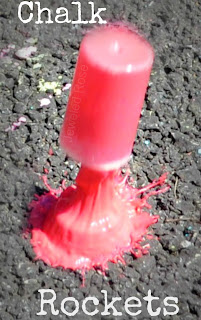 Chalk Rockets- these rockets fly high in the air, creating beautiful exploding art all over the pavement.  Way too FUN!