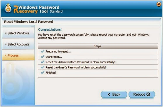 reset forgotten Windows 8 password