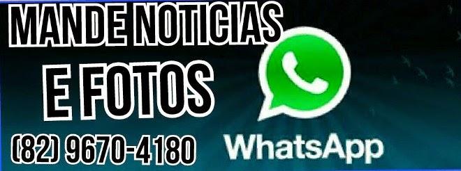 envie a sua denúncia ou fotos através do WhatsApp