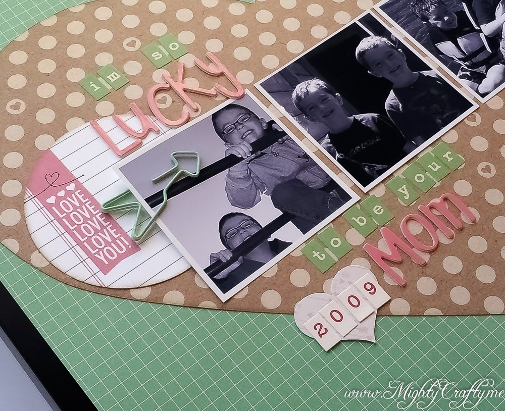 So Lucky -- Sketch layout for Practical Scrappers -- www.MightyCrafty.me
