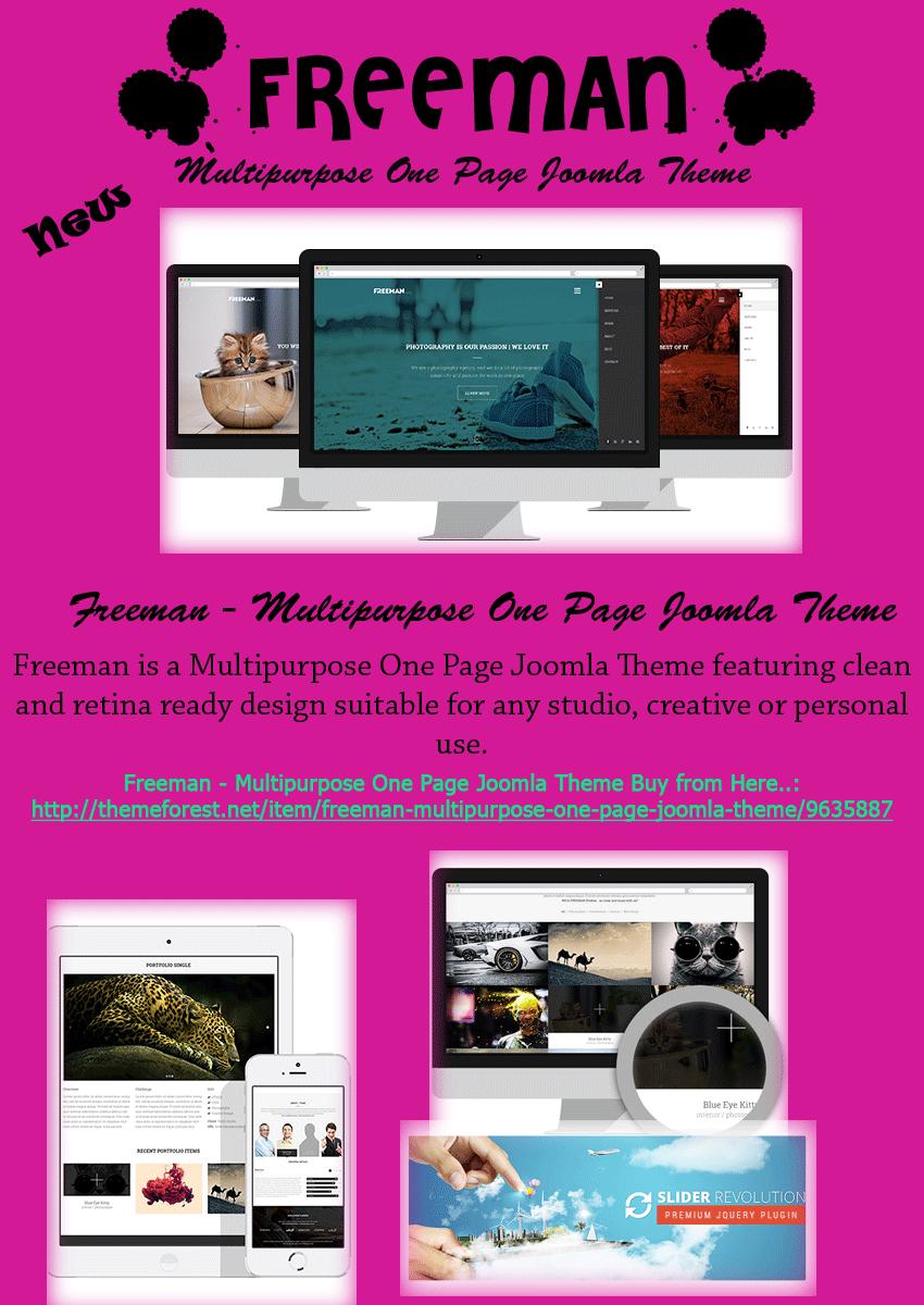 Freeman - Multipurpose One Page Joomla Theme - Joomla Theme, Joomla ...