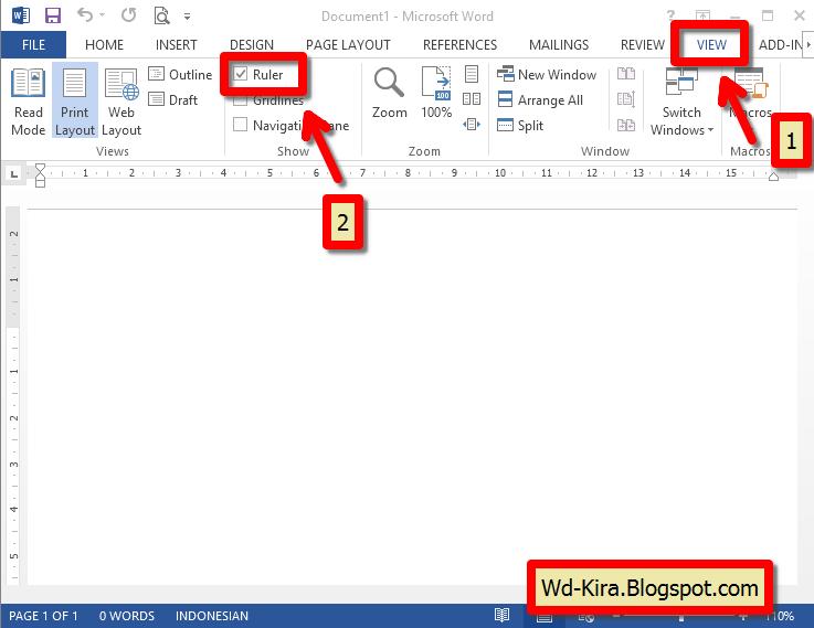 Wd-Kira, Cara membuat Titik-titik daftar isi pada Microsoft Word , cara membuat daftar isi pada ms.word, cara membuat titik-titik rapi pada daftar isi MS.Word, cara mudah mengatur daftar isi
