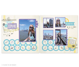 Wanderful CTMH Scrapbook Layout