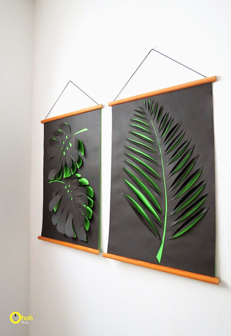 Diy paper wall art ohoh blog for Making wall decorations