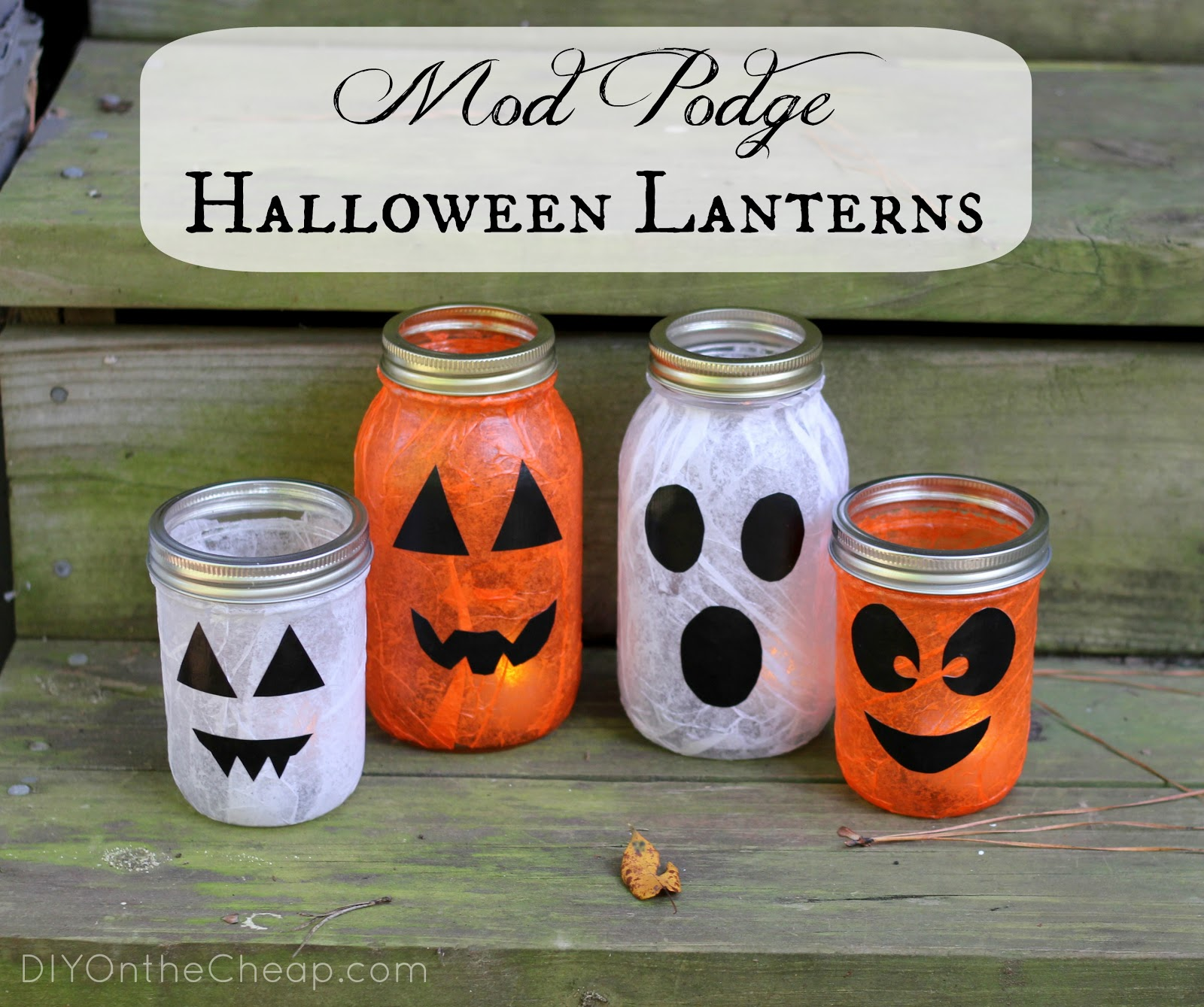 mod podge halloween lanterns - erin spain