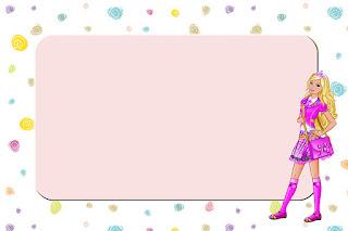 Caratula Horizontal para cuadernos de niña de la muñeca Barbie