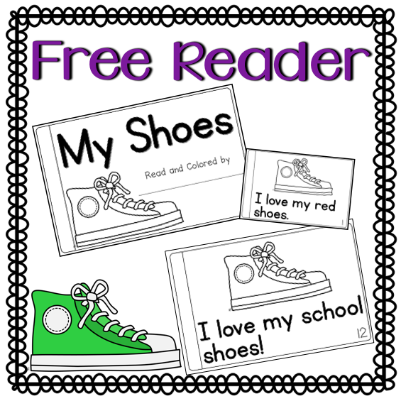 http://www.teacherspayteachers.com/Product/My-Shoes-Color-Reader-Free-1425047
