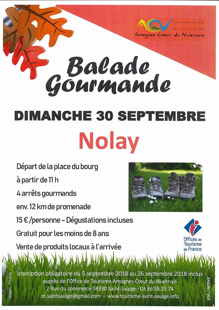 Balade gourmande dimanche 30 septembre à Nolay