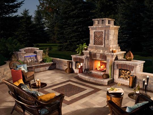 Rochester Outdoor Fireplace