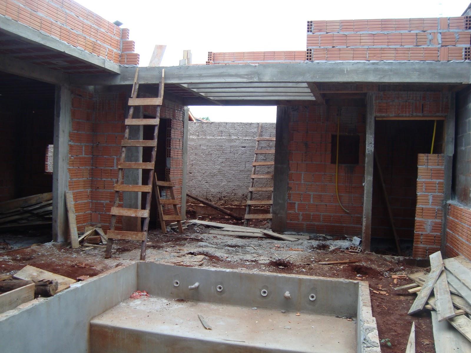 Construindo nosso Lar: Etapa da laje cumprida agora Telhado e  #61453D 1600x1200 Banheiro Com Janela Na Laje