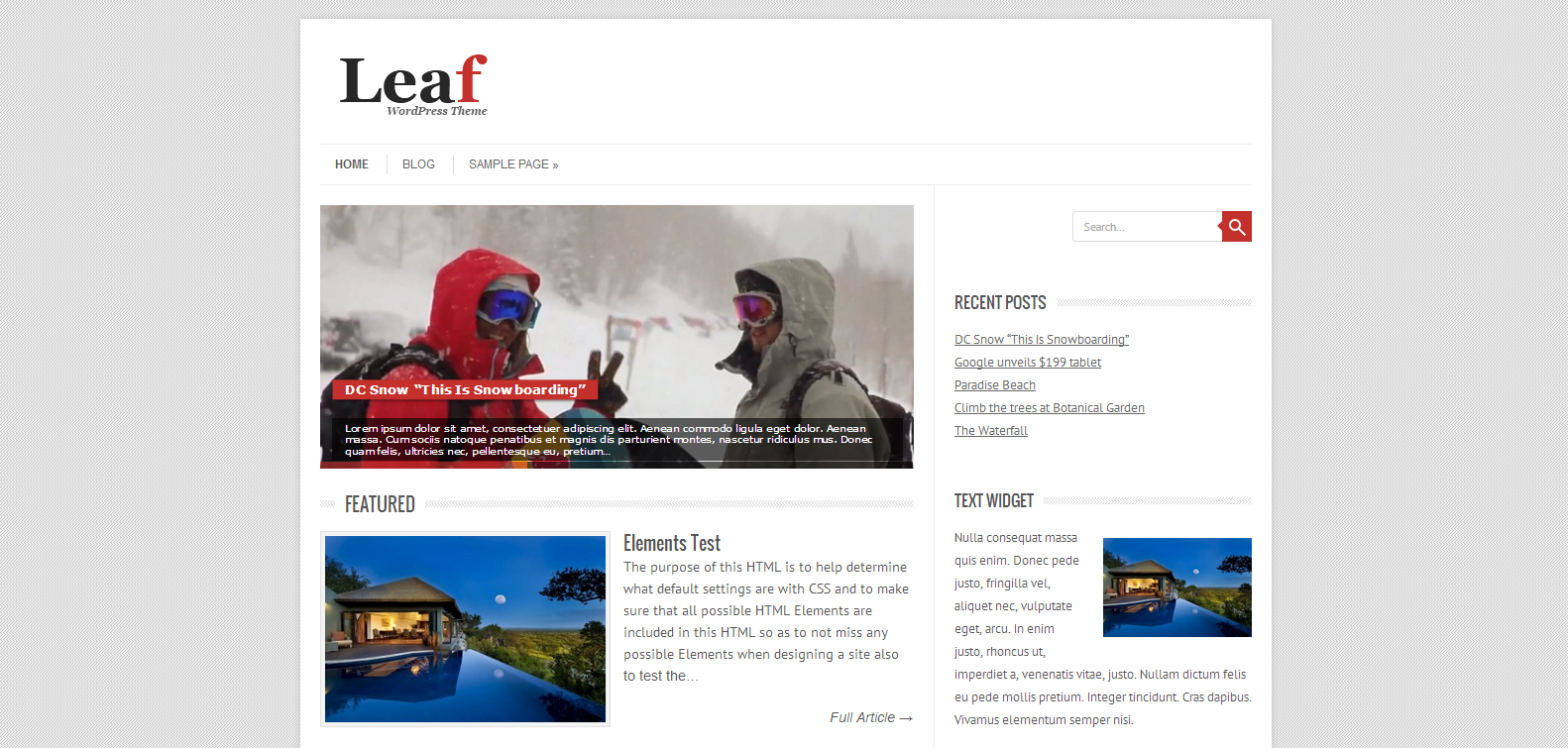 Leaf WordPress Theme
